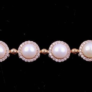 Pearl and  Sterling Silver Bracelet-Elegant!